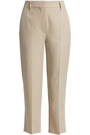 Brunello Cucinelli Women Straight Leg Pants - Women's Cropped Straight Trousers - - Size 12