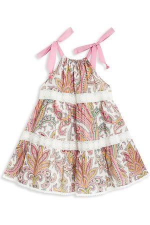 ZIMMERMANN Little Girl's & Girl's Teddy Halter Tiered Dress - Ivory - Size 8