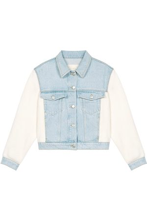 Maje Women's Berlingot Knit & Denim Jacket - Sky - Size 4
