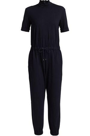 Brunello Cucinelli Women's Mockneck Jumpsuit - Midnight - Size XS