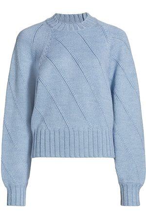 RACHEL COMEY Women's Claes Diagonal Rib-Knit Sweater - Heather - Size Small
