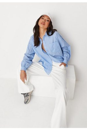 Missguided Women Long sleeves - Stripe Oversized Shirt