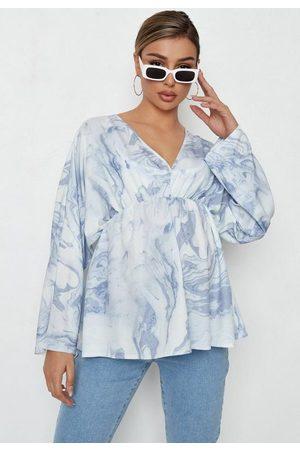Missguided Women Kimonos - Marble Print Kimono Sleeve Maternity Top