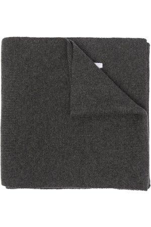 Dsquared2 Men Scarves - Embroidered-logo ribbed-knit scarf - Grey