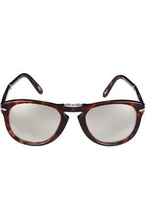 Persol Men's 54MM Round Sunglasses - Grey Mirror