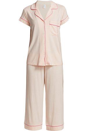 Eberjey Women's Gisele Cropped Pajama Set - Belinni Bright - Size XL