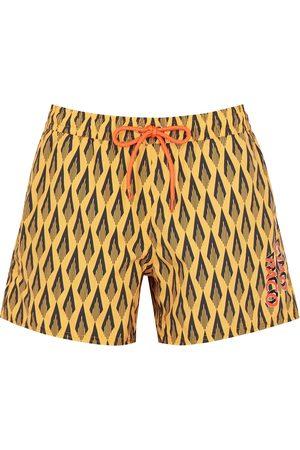 Paco rabanne Women Swimwear - Printed cotton swim shorts