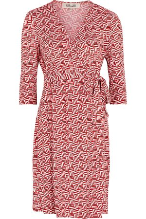 Diane von Furstenberg Women Casual Dresses - Julian Two printed silk-jersey wrap dress