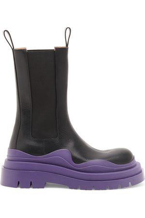 Bottega Veneta Women's Tire Leather Chelsea Boots - - Size 10.5
