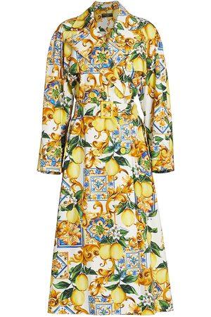 Dolce & Gabbana Women's Limoni Print Trench Coat - Limoni Piastrelle - Size 16