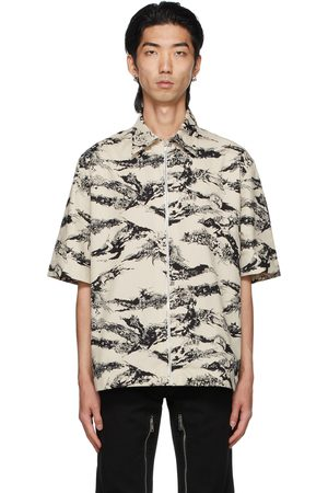 Givenchy Grey Gothic Zipped Short Sleeve Shirt