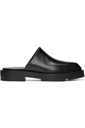 Givenchy Black Squared Open Loafers