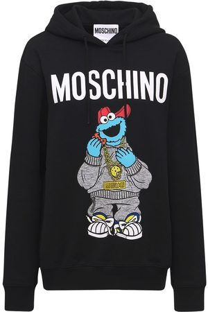Moschino Sesame Street Print Cotton Jersey Hoodie