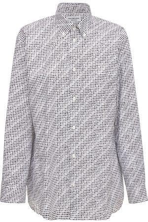 Balenciaga Women Shirts - Archive Letters Cotton Poplin Shirt