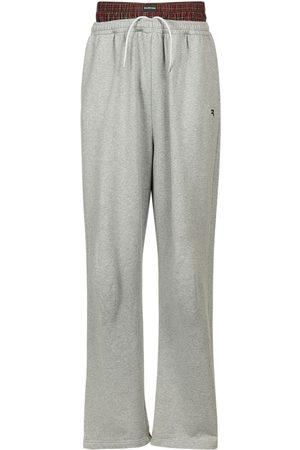 Balenciaga Men Pants - Micro Tartan Poplin Pants