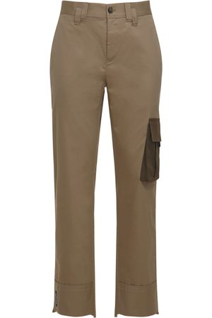 VERSACE Cotton Stretch Cargo Pants