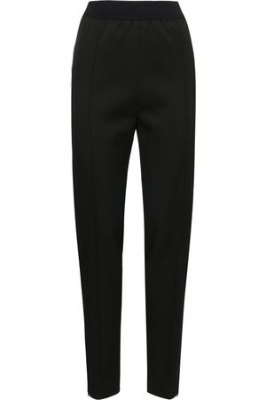 Jil Sander Women Straight Leg Pants - Light Wool Gabardine Straight Leg Pants