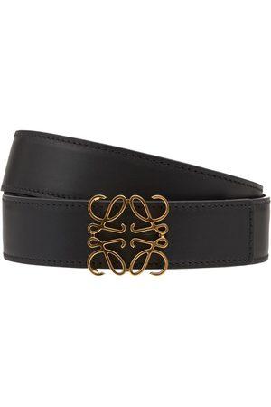 Loewe 3.2cm Reversible Leather Anagram Belt