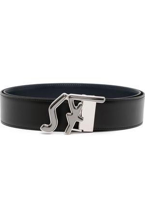 Salvatore Ferragamo Men Belts - Logo-buckle adjustable reversible belt