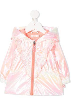 Billieblush Rainwear - Metallic ruffled iridiscent rain-jacket