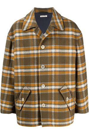 Marni Men Jackets - Check-pattern button-up shirt jacket