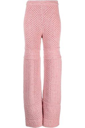 Nanushka Fina cable-knit trousers