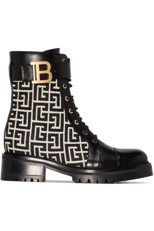 Balmain Women Boots - Ranger Romy monogram boots
