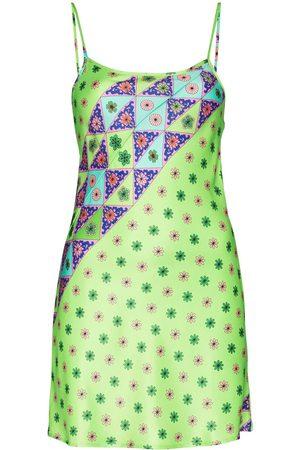 Frankies Bikinis Aster geometric-print minidress