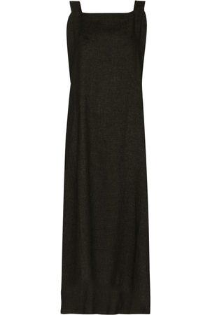 Missing You Already Women Maxi Dresses - Square-neck sleeveless maxi dress