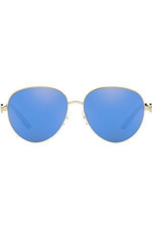 Tory Burch Logo-arm aviator sunglasses