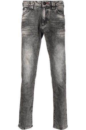 Philipp Plein Slim-cut skull jeans - Grey