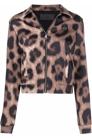 Philipp Plein Leopard-print jacket - Neutrals