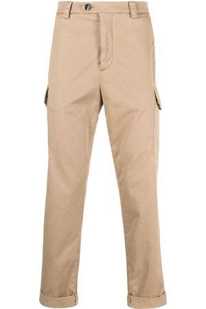 Brunello Cucinelli Slim cargo trousers - Neutrals