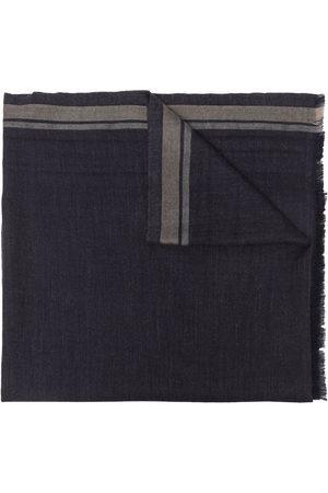 Brunello Cucinelli Stripe detailing frayed scarf