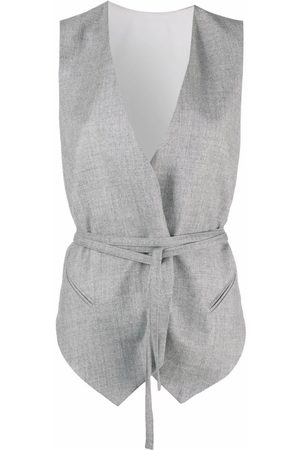 Brunello Cucinelli Sleeveless belted waistcoat - Grey