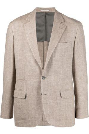 Brunello Cucinelli Tweed single-breasted blazer - Neutrals