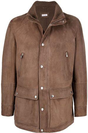 Brunello Cucinelli Single-breasted suede jacket