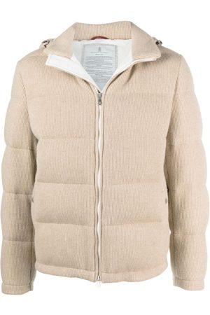 Brunello Cucinelli Cashmere padded jacket - Neutrals