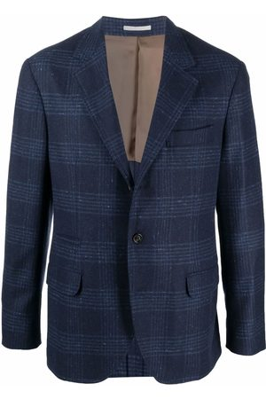 Brunello Cucinelli Check-print single-breasted blazer