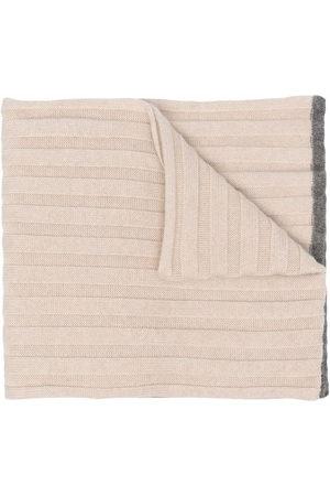 Brunello Cucinelli Ribbed knit scarf - Neutrals