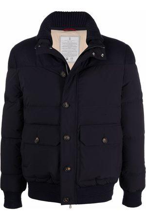 Brunello Cucinelli High neck padded jacket