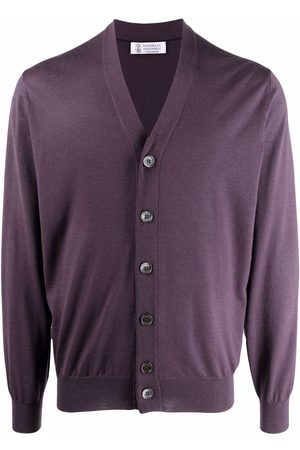 Brunello Cucinelli Men Cardigans - Button-up cashmere-wool cardigan