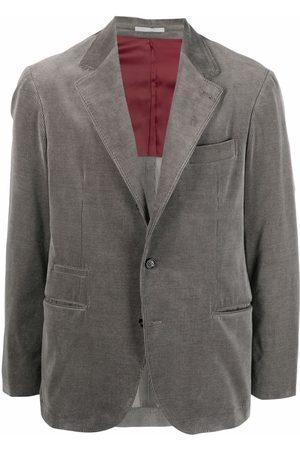 Brunello Cucinelli Men Blazers - Single-breasted tailored blazer - Grey