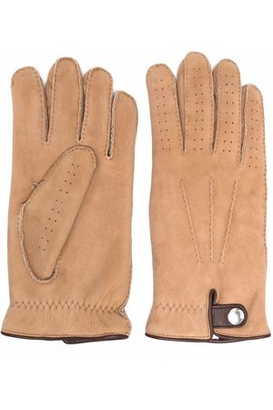 Brunello Cucinelli Perforated sheepskin gloves - Neutrals