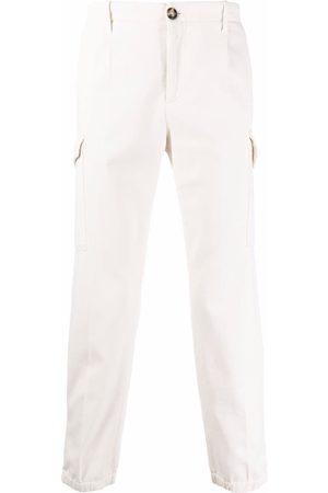 Brunello Cucinelli Straight-leg cargo trousers - Neutrals