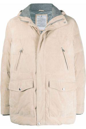 Brunello Cucinelli Padded zip-up jacket - Neutrals