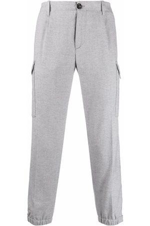 Brunello Cucinelli Straight-leg tailored trousers - Grey
