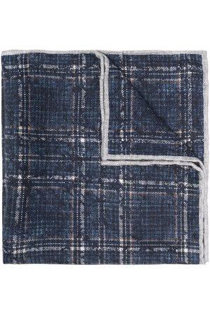 Brunello Cucinelli Checked silk pocket square