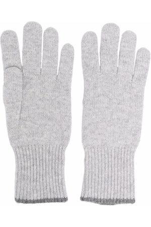 Brunello Cucinelli Knitted cashmere gloves - Grey
