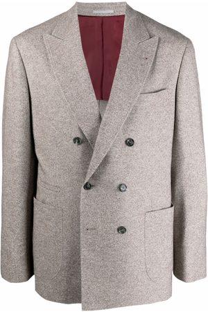 Brunello Cucinelli Men Blazers - Double-breasted blazer - Neutrals